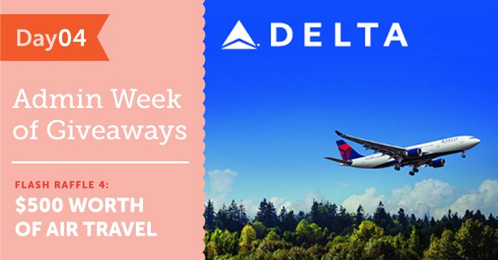 Flash Raffle #4 – WIN $500 Worth of Delta Air Lines Travel!